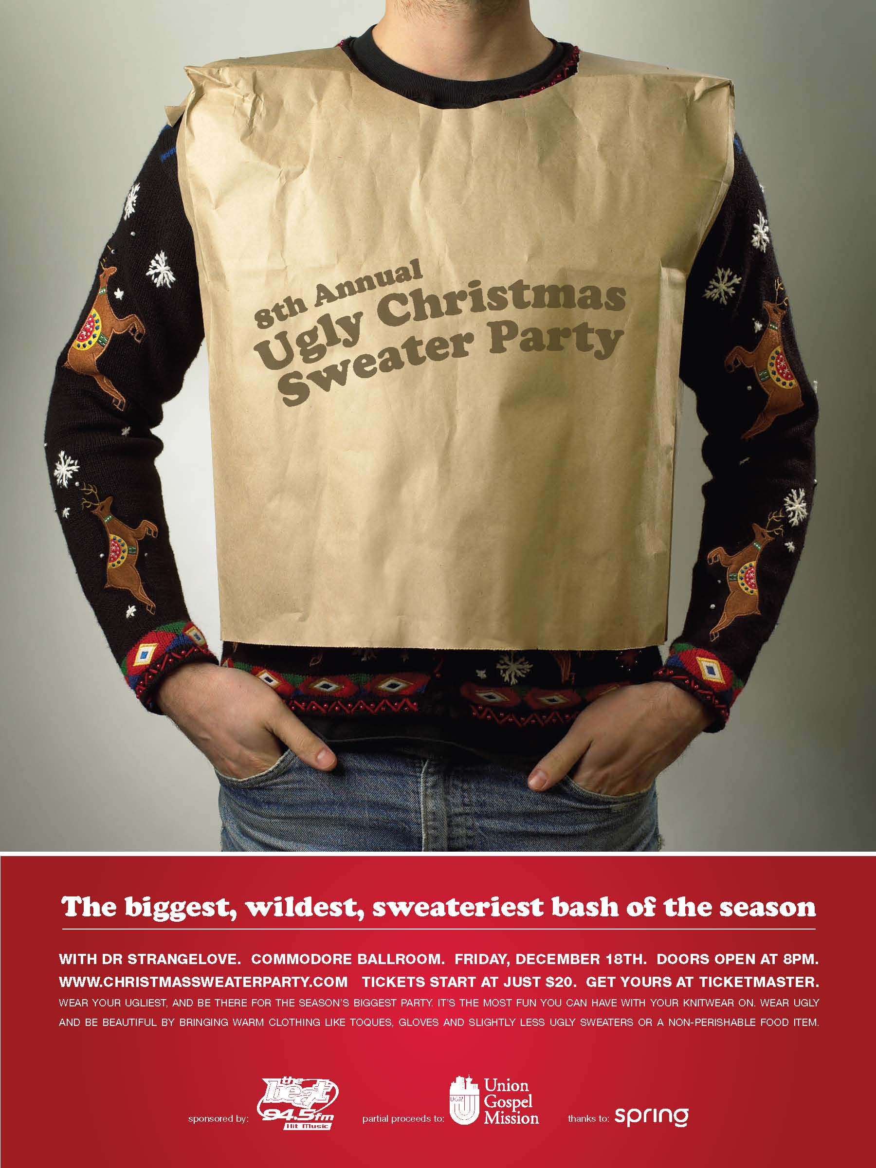 The Original Ugly Christmas Sweater Party Vancouver Canada The