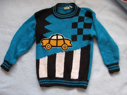 ugly vintage taxi sweater