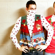 ugly Christmas sweater vest and matching turtleneck