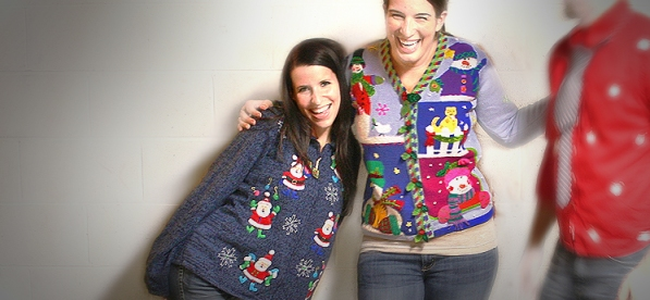 Women's size medium ugly sweaters at The Ugly Sweater Shop
