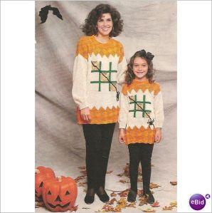 Knit Sweater Pattern Halloween Sweater