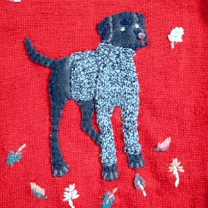 Dogs in Sweaters! Tacky Ugly Sweater/Cardigan Women's Plus Size 3X