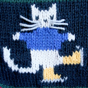 Kitty Cat With Scarf Tacky Ugly Sweater Women's Size Small (S)