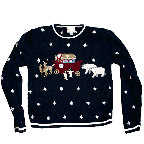 Noah's Ark Tacky Ugly Christmas Sweater Women's Size Small (S)