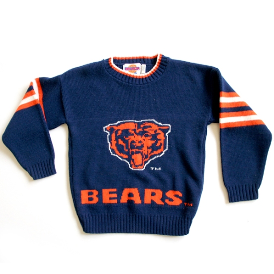 Chicago Bears Tacky Ugly Football Ditka Sweater Kids Size Large (L) 7