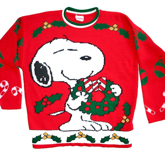 Vintage 80s Snoopy Peanuts Tacky Ugly Christmas Sweater Men's Size Large (L)