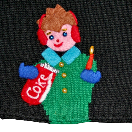 Michael Simon Coca-Cola Tacky Ugly Christmas Sweater/Cardigan Women's Size XL