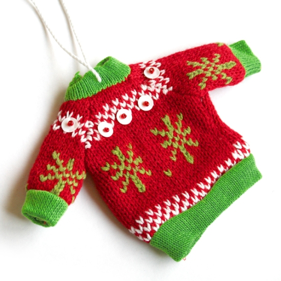 Tacky Ugly Christmas Sweater Holiday Ornament