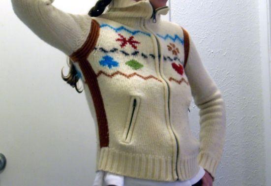 Hearts Diamonds Spades & Clubs Cozy Wool Winter Sweater