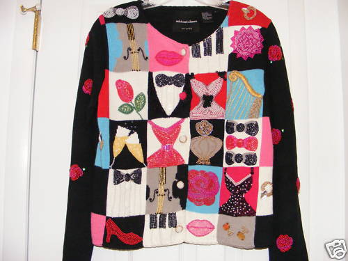 MICHAEL SIMON VALENTINE SWEATER WOMENS SIZE SMALL EUC