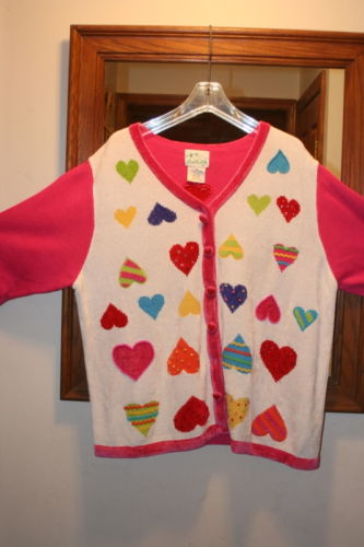 Quacker Factory Valentine Sweater 1X