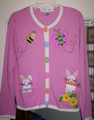 "ADORABLE Victoria Harbour ""Spring/Easter"" Sweater- L"