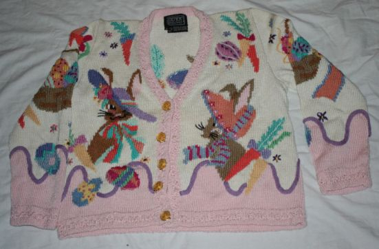 BEREK Easter Bunny Spring SWEATER Pima Cotton M Knit