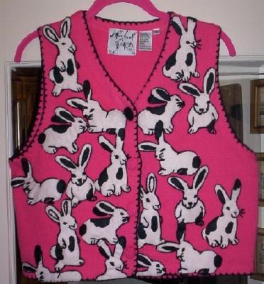 """ADORABLE Michael Simon """"Easter"""" Sweater Vest- M"""