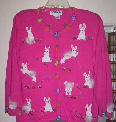 "Jack B. Quick (berek co.) ""Easter Bunny ""Sweater- PL/ L"