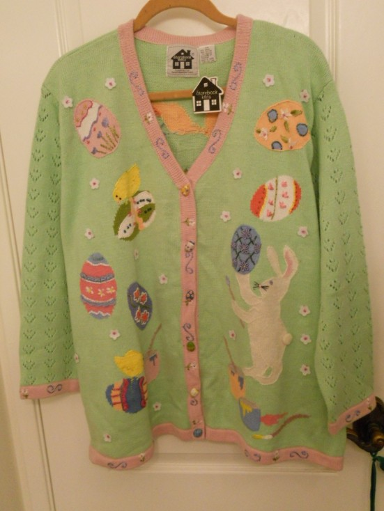 "Storybook Knits ""Happy Easter"" Sweater, Sz 2X, NWT!!"