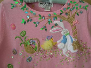JACK B QUICK Easter Sweater Boutique Bunny, Chick, S