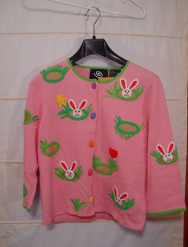Rare! Michael Simon Event - Easter Bunny Sweater S NWT