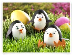 Penguin Easter Eggs via H-E-B