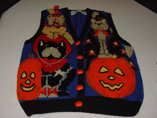 Bellepointe Halloween Cardigan Sweater Vest Dogs Cats Costumes Pumpkins Big M