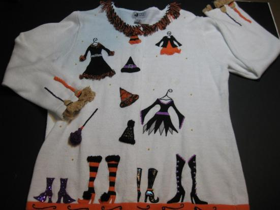 Halloween Sweater Dressing for the Night!