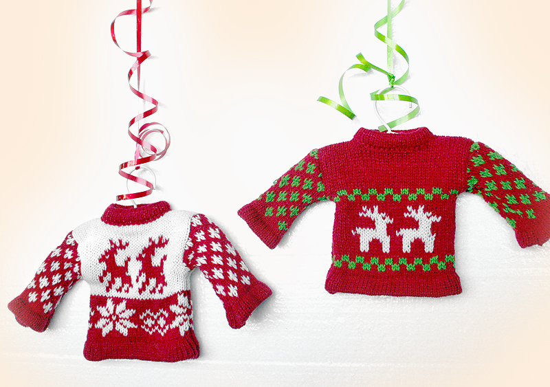 New in the store  Tacky Ugly Christmas Sweater Holiday Ornaments sMM79r5H