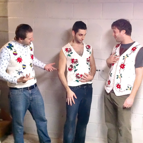 3 Sorta Matching Tacky Ugly Christmas Sweater Vests Women's XS, Small & Large (XS/S/L)