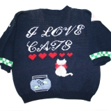 Sweater for eHarmony lady who loves cats